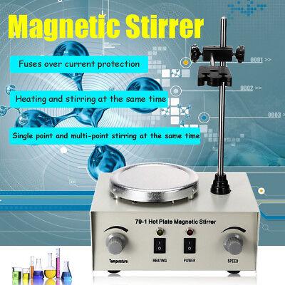 1000ml 79-1 Magnetic Stirrer With Heating Plate Digital Hotplate Mixer Stir Bar
