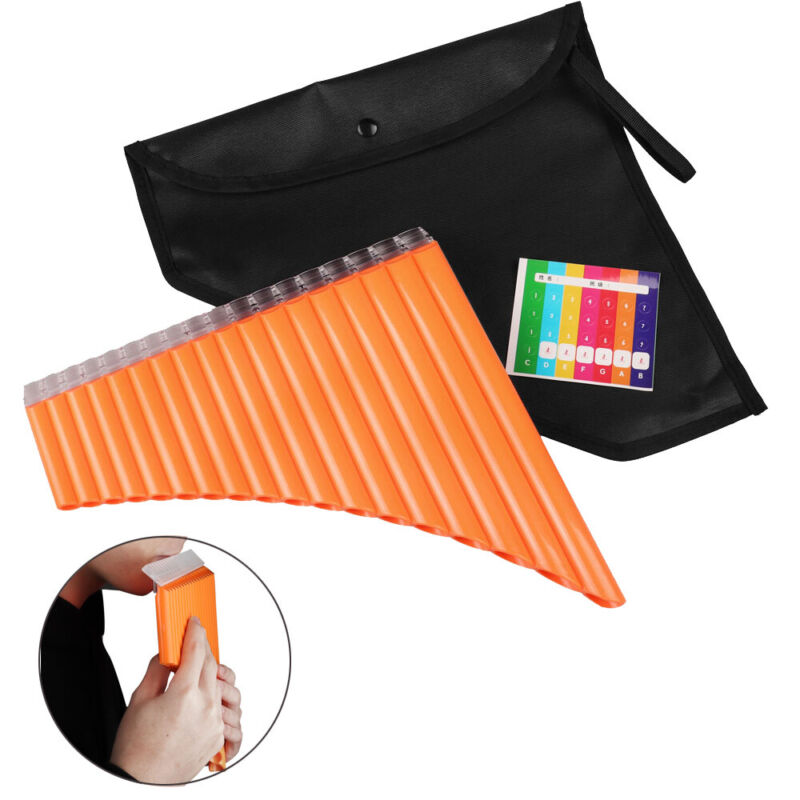 Pan Flute 18 Pipes Panpipe Music Woodwind Instrument for Beginners Student Gift