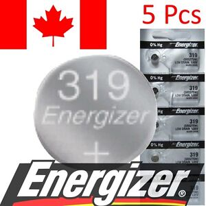 5-PC-Energizer-319-Battery-V319-SR527-SR527SW-615-SB-AE-280-60-Watch-Batteries
