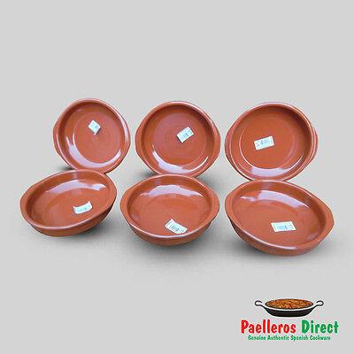 Set of 6 x 20cm Spanish Terracotta Tapas Dishes / Cazuelas