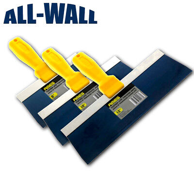 Ames Blue Steel Taping Knife Set 8- 10- 12 Drywall Plaster Finishing Spatula
