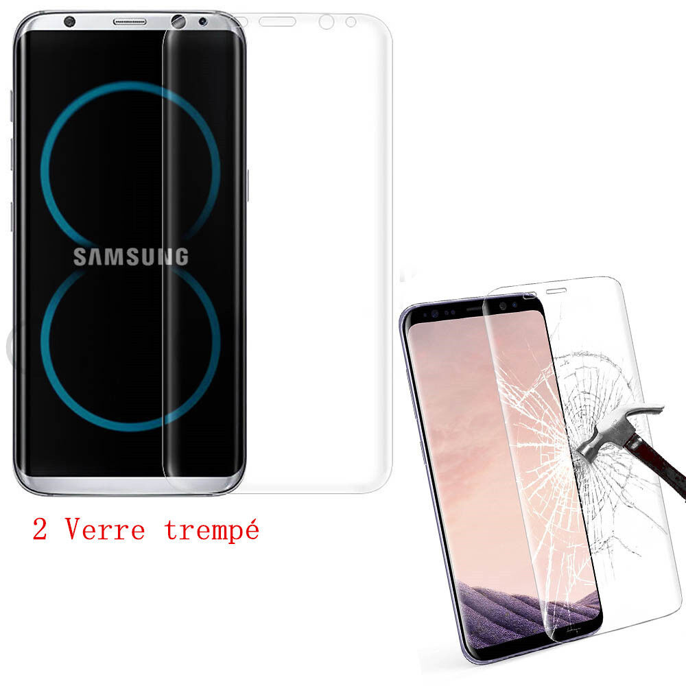 vitre film protection ecran verre tremp int gral incurv samsung s8 plus s9 eur 3 98. Black Bedroom Furniture Sets. Home Design Ideas