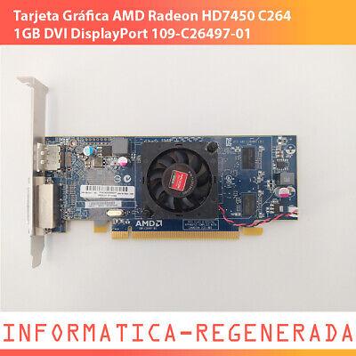 Tarjeta Gráfica AMD Radeon HD7450 C264 1GB DVI DisplayPort 109-C26497-01 P.Alto segunda mano  Mairena del Aljarafe