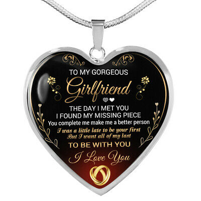 To My GIRLFRIEND Necklace Best Gift For Girlfriend From Boyfriend