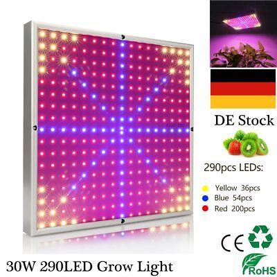LED Pflanzen Licht 30Watt 290 Pflanzenlampe Vollspektrum Gewächshaus Obst Samen ()