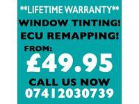 **LIFE TIME WARRANTY** CAR WINDOW TINTING, ECU REMAPPING, DPF & EGR DELETE!!