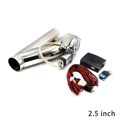 "63mm 2.5"" inch  EXHAUST CATBACK VALVE TURBO ELECTRIC E CUTOUT Y PIPE WITH REMOTE"