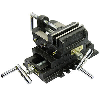 4 Cross Drill Press X-y Clamp Machine Vise Metal Milling Slide 2 Way Hd