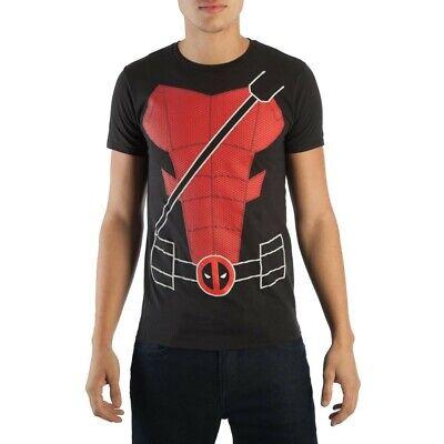 Deadpool Authentic Costume (Authentic MARVEL COMICS Deadpool Suit Up Costume T-Shirt S-2XL)