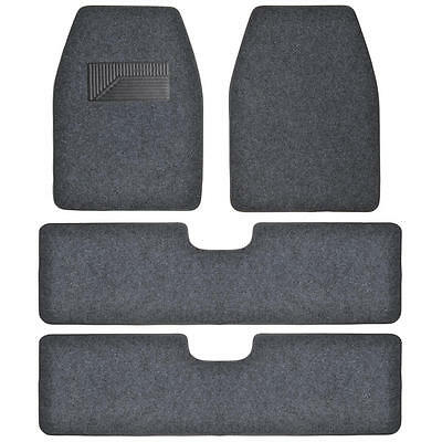 Bdkusa 3 Row Best Quality Carpet Floor Mats For Suv Van   4 Pieces   Dark Gray