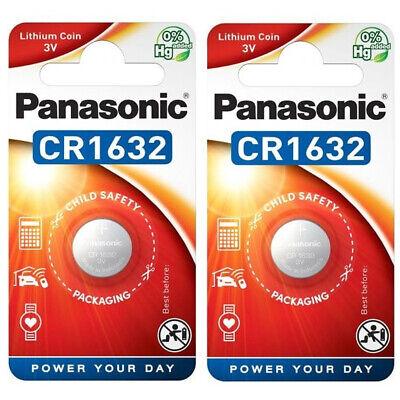 2 x Panasonic CR1632 3V Lithium Coin Cell Battery 1632 DL1632 BR1632 Longest EXP