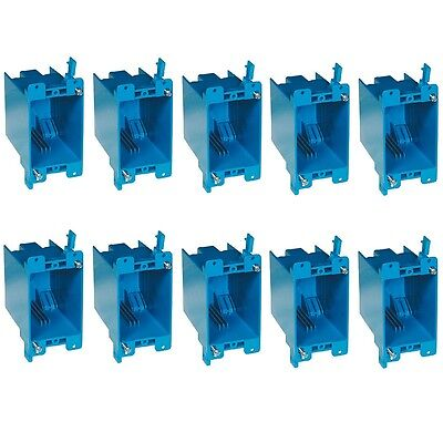 10-pc 20 Single-gang Wall Outlet Switch Old-work Plastic Electrical-box Remodel