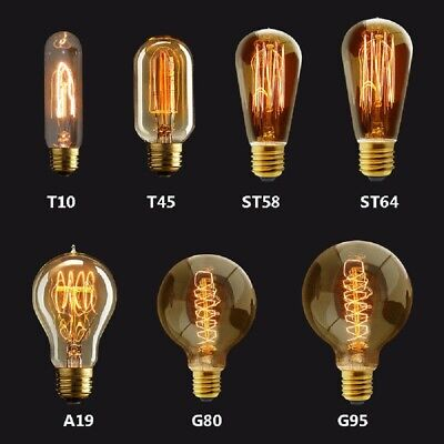 E27 Vintage Industrial Filament Light Bulb 40W Lamps Bulbs Squirrel Cage Edison