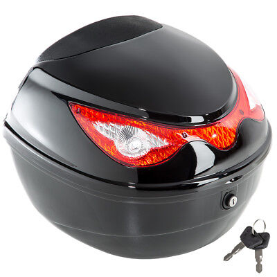 Bauletto per scooter baule moto bici quad valigia top case universale nero