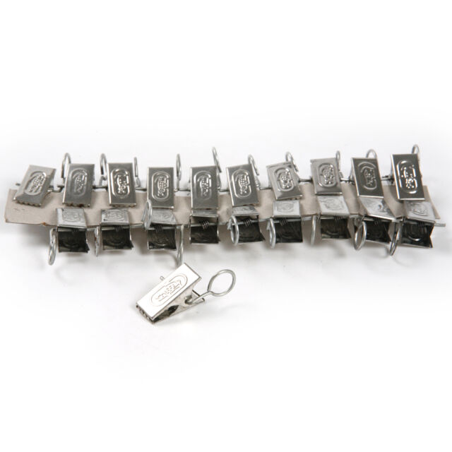 20pcs Stainless Steel Window Shower Curtain Rod Clips Clamps Pegs ...