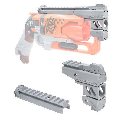 MaLiang 3D Print Snub Magnum Barrel Rail Gray for Nerf HammerShot Modify Toy
