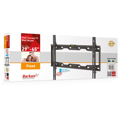- Barkan E302+ Auto-lock Fixed Curved/ Flat TV Wall Mount for 29