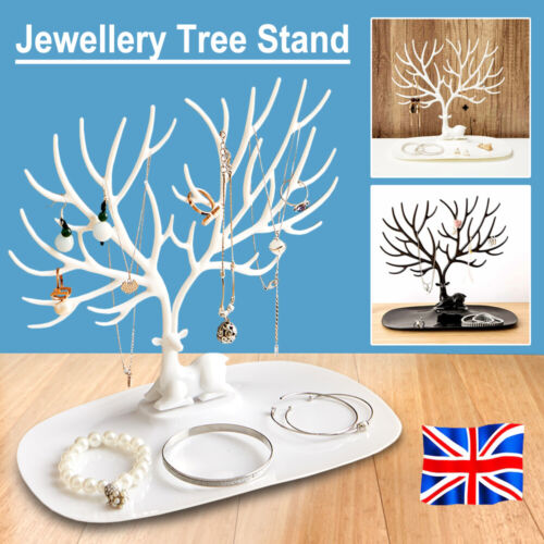 Jewellery - Large Jewellery Tree Stand Display Organizer Necklace Earring Holder Show Rack
