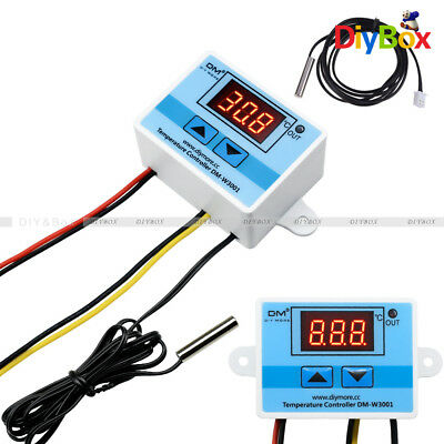 W3001 Digital Temperature Control Controller Thermostat Switch Probe 220v Cable