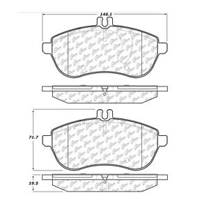 Centric 102.13400 Disc Brake Pad- C-TEK Metallic Brake Pads, Front