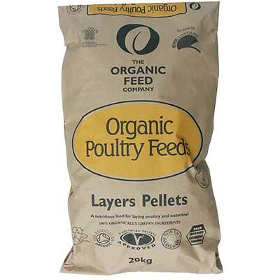 Allen & Page Organic Poultry Layers Pellets 20Kg - Chicken Food