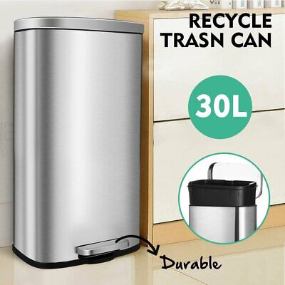 8 Gallon Trash Can - 8 Gallon(30L) Trash Can,Garbage Bin with Lid and Inner Bucket for Kitchen Office