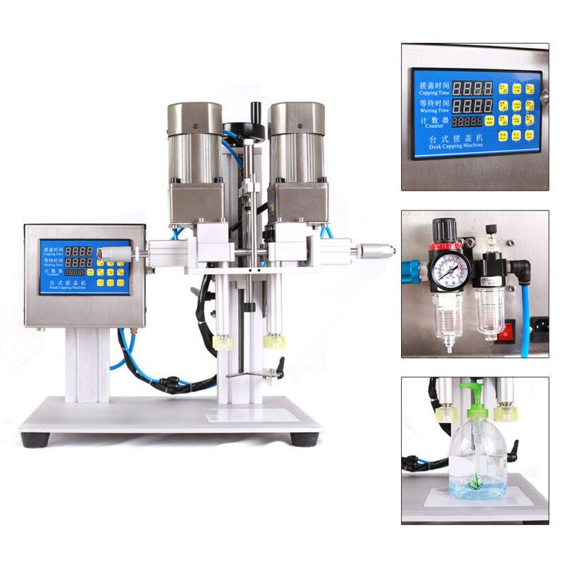 Semi-automatic Pneumatic Tabletop Capping Machine Desktop Bottle Screw Capper US