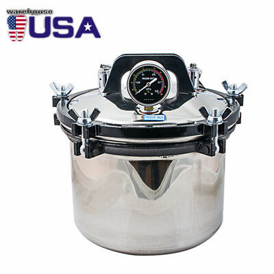 Lab 8l Autoclave Sterilizer Medical Dental Tattoo Steam Sterilization Dentist
