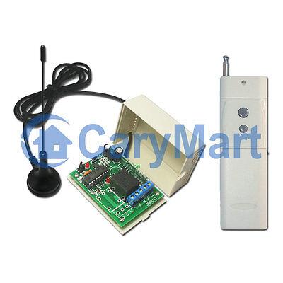 1CH 6V 9V 12V 24V 2000M RF Long Range Remote Control Kit - Transmitter & Receive