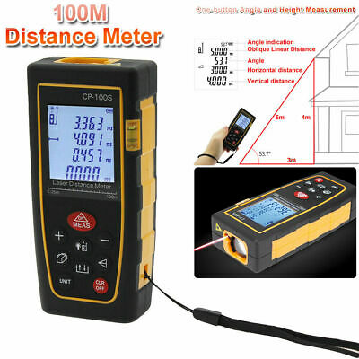 100m 328ft Digital Lcd Laser Distance Meter Range Finder Measure Tape Tool Fast