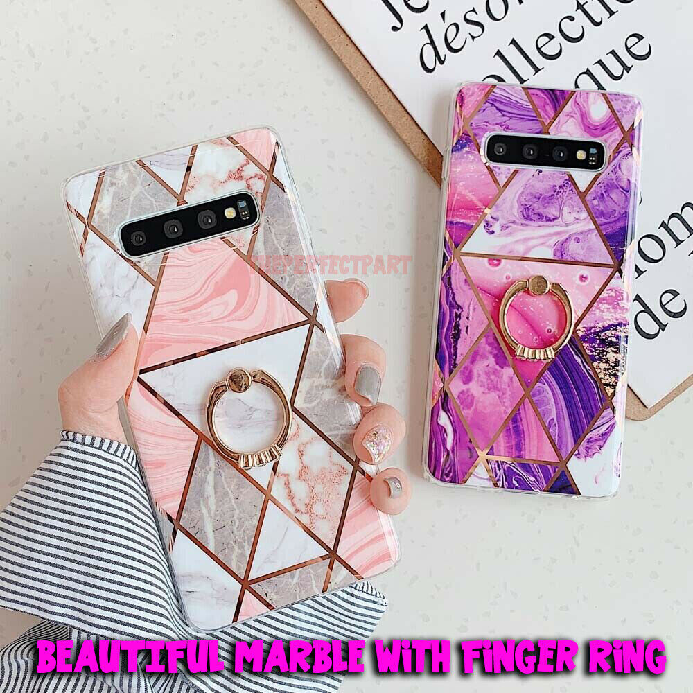 Marble Phone Case Cover For Samsung Galaxy Note 10 S10 Plus S9 S8 Finger Ring US