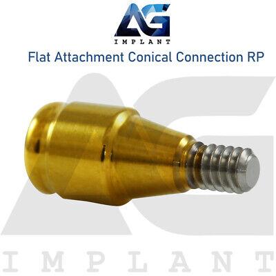 2 Flat Attachment Abutment RP Conical Connection Titanium Dental Implant - $28.00