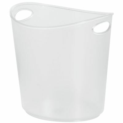 Ice Bucket 1 Gal Oval Clear Polystyrene