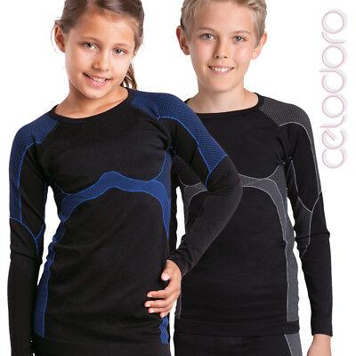 Kinder Thermo Funktionswäsche Langes Unterhemd für Mädchen und Jungen