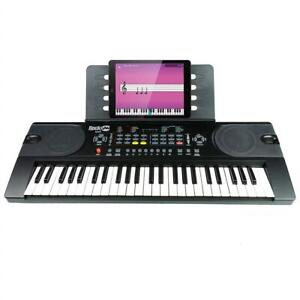 NEW RockJam (RJ549) 49-Key Portable Electric Keyboard Piano With Power Supply, Sheet Music Stand and Simply Piano App...