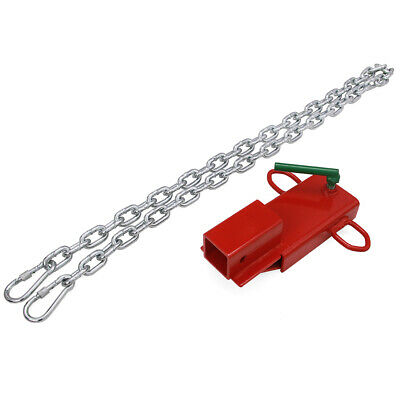 Pallet Fork Trailer Towing Adapter Clamp On Forklift Hitch Receiver
