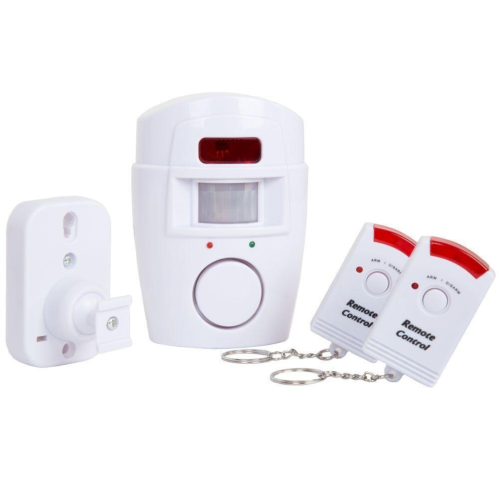 Driveway Garage Motion Sensor Alarm Infrared Wireless 2 Remotes Stoppers NEW Consumer Electronics