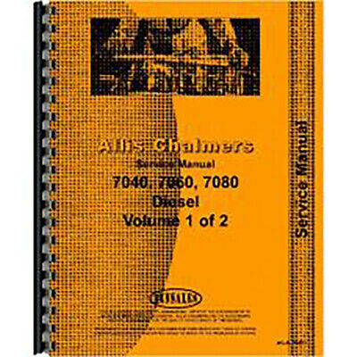 Service Manual Fits Allis Chalmers 7080 Diesel Tractor