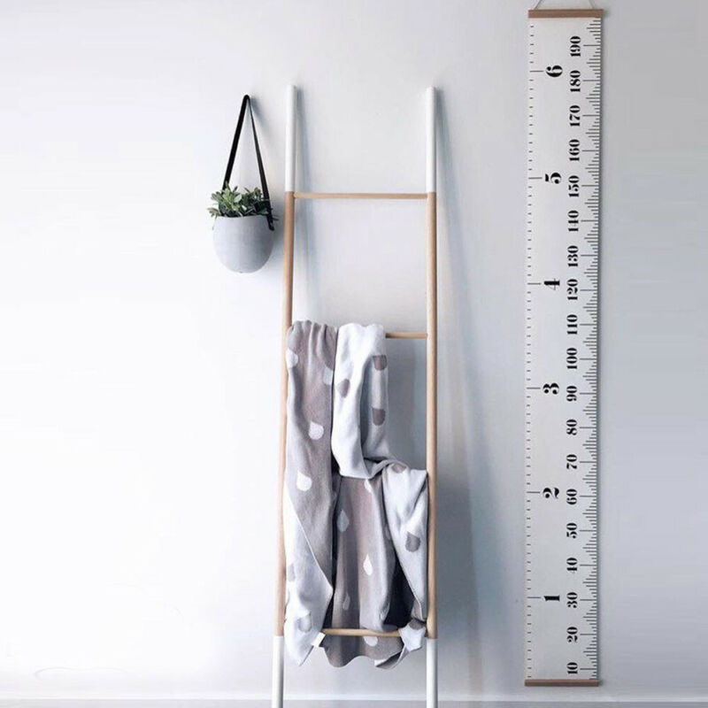 Home Decoration - Baby Height Growth Chart Hanging Rulers Kids Room Wall Wood Frame Home Decor US
