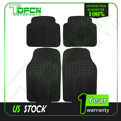 Liner Heavy Duty Rubber Car Floor Mats   4pc Front Rear Black Truck All Weather