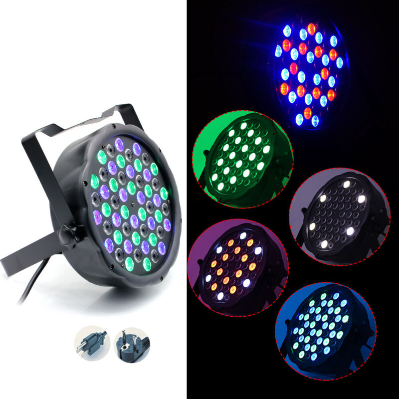10Pack RGB 162W 54x3W LED Par Stage Light DMX512 DJ Disco Party Wedding Lighting