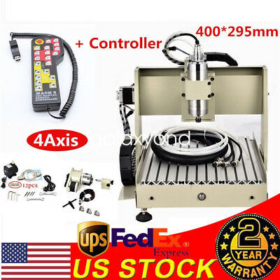 4 Axis 800w Cnc 3040 Router Engraver Wood Cutter Machine Carving Milling Machine