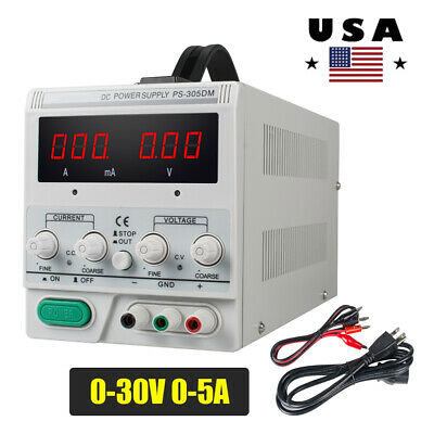 Us Ps-305dm 30v5a Variable Linear Dc Power Supply 110v Switching Lab Equipment