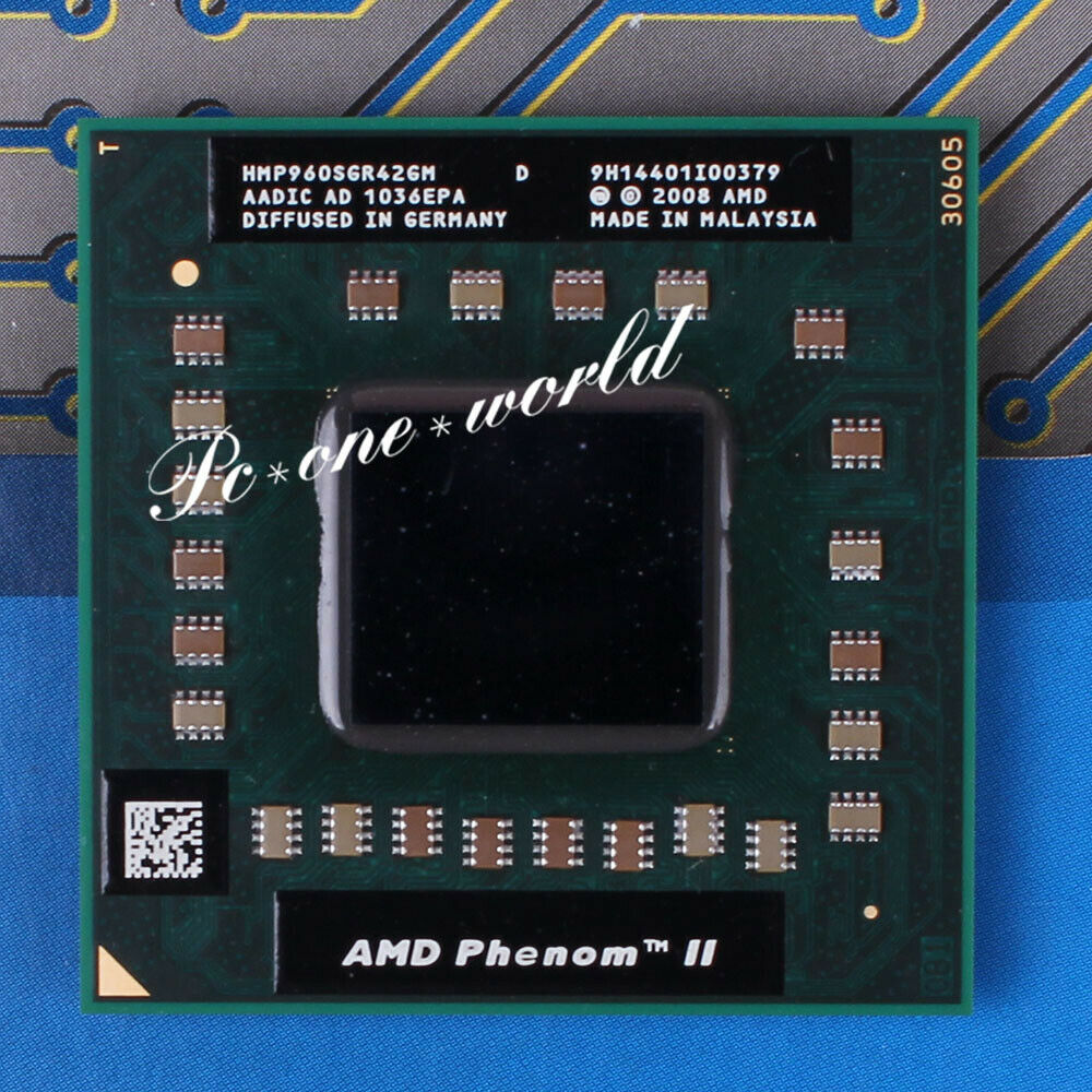 AMD Phenom II Quad-Core Mobile P960 1.8 GHz Quad-Core Quad-Thread CPU Processor HMP960SGR42GM Socket S1