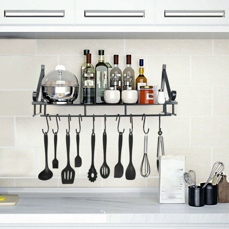 Over Sink Dish Drying Rack Drainer Wall Mount Cookware Pan H