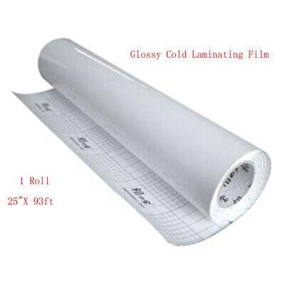 1 Roll Glossy 25 31yard Luster Vinyl Cold Laminating Film Laminator