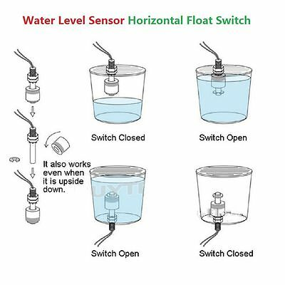 New Liquid Water Level Sensor Horizontal Float Switch Use In Tank Pool Aquariums
