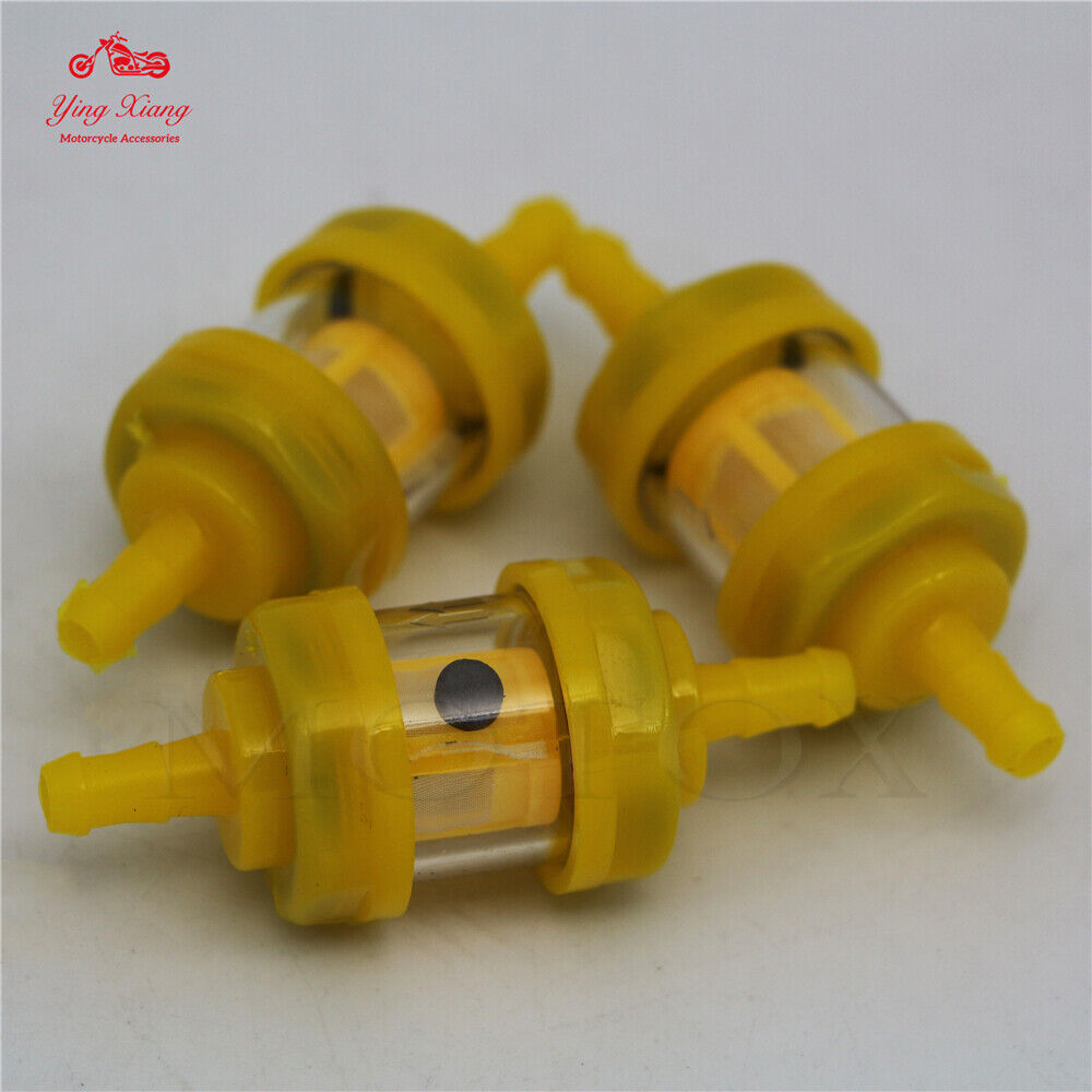 """Fit For YAMAHA Pit Dirt Bike 1//4/"""" 6-7mm Plastic Gas Fuel Filter With magnetic"""