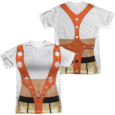 Authentic The Fifth Element Leeloo Costume Outfit Sublimation Front Back T-shirt