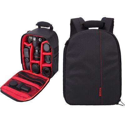 Waterproof DSLR Camera Backpack Shoulder Bag Travel Case For Canon Nikon Sony